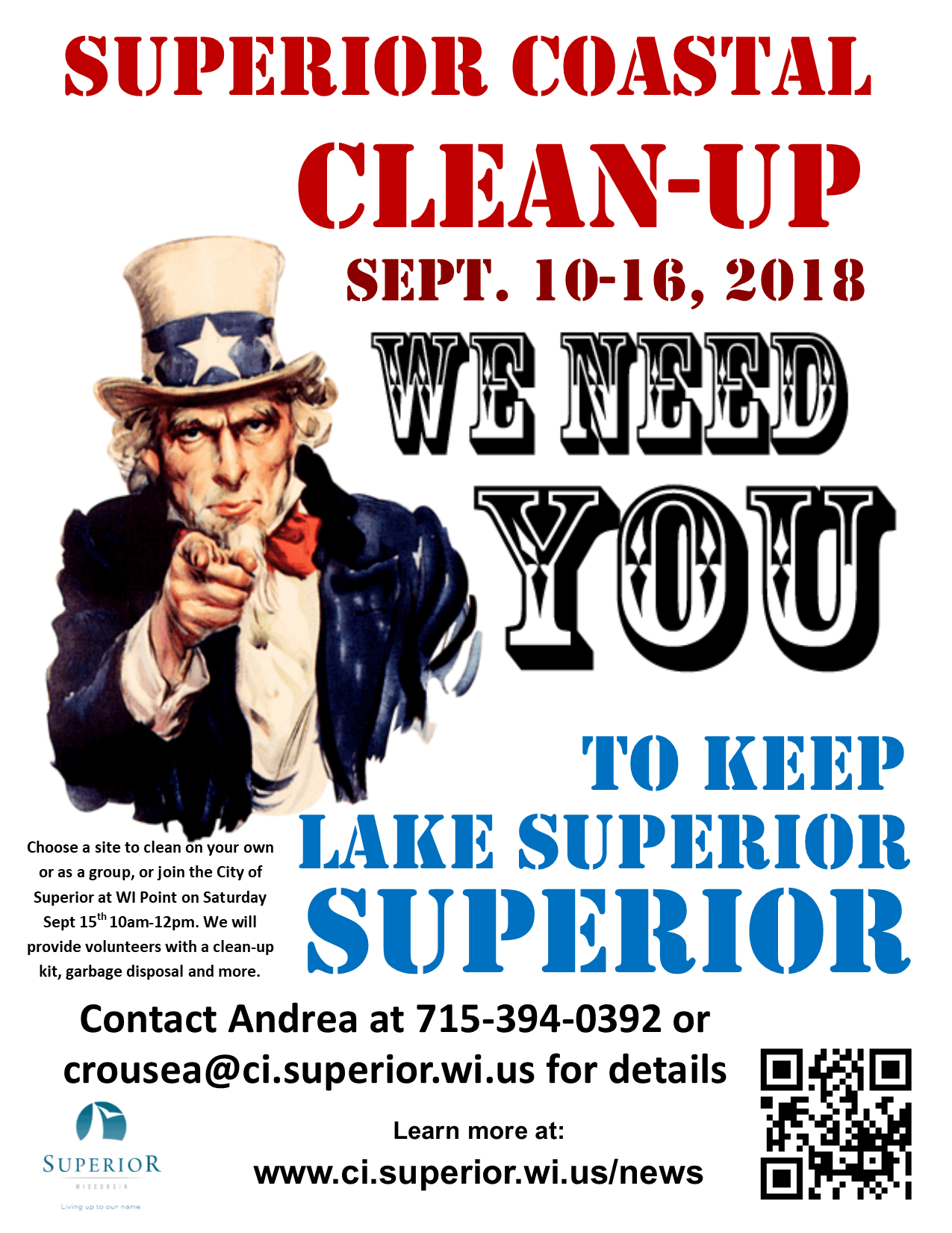 2018_SuperiorCoastalCleanUp_Poster