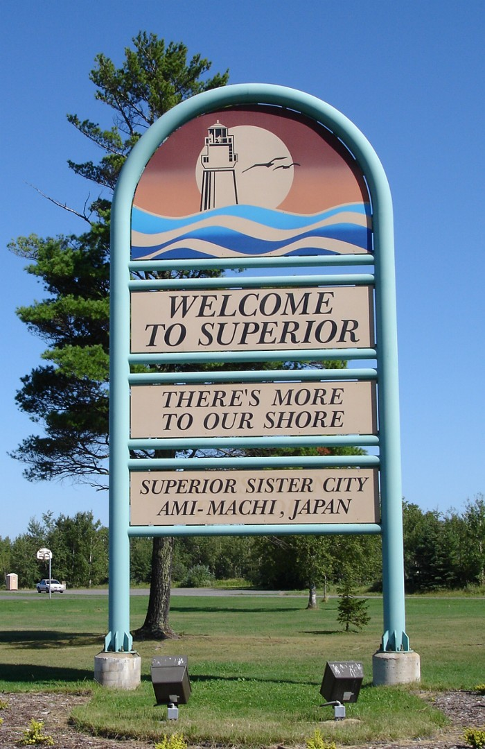 Superior welcome sign
