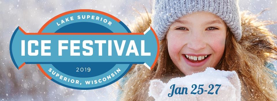 2019 ice festival photo of girl with mittens full of snow