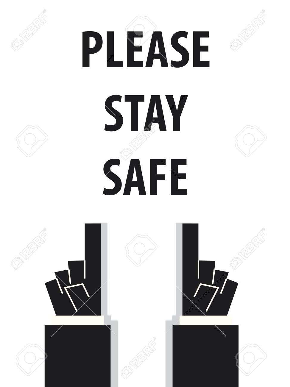 57155717-please-stay-safe-typography-illustration