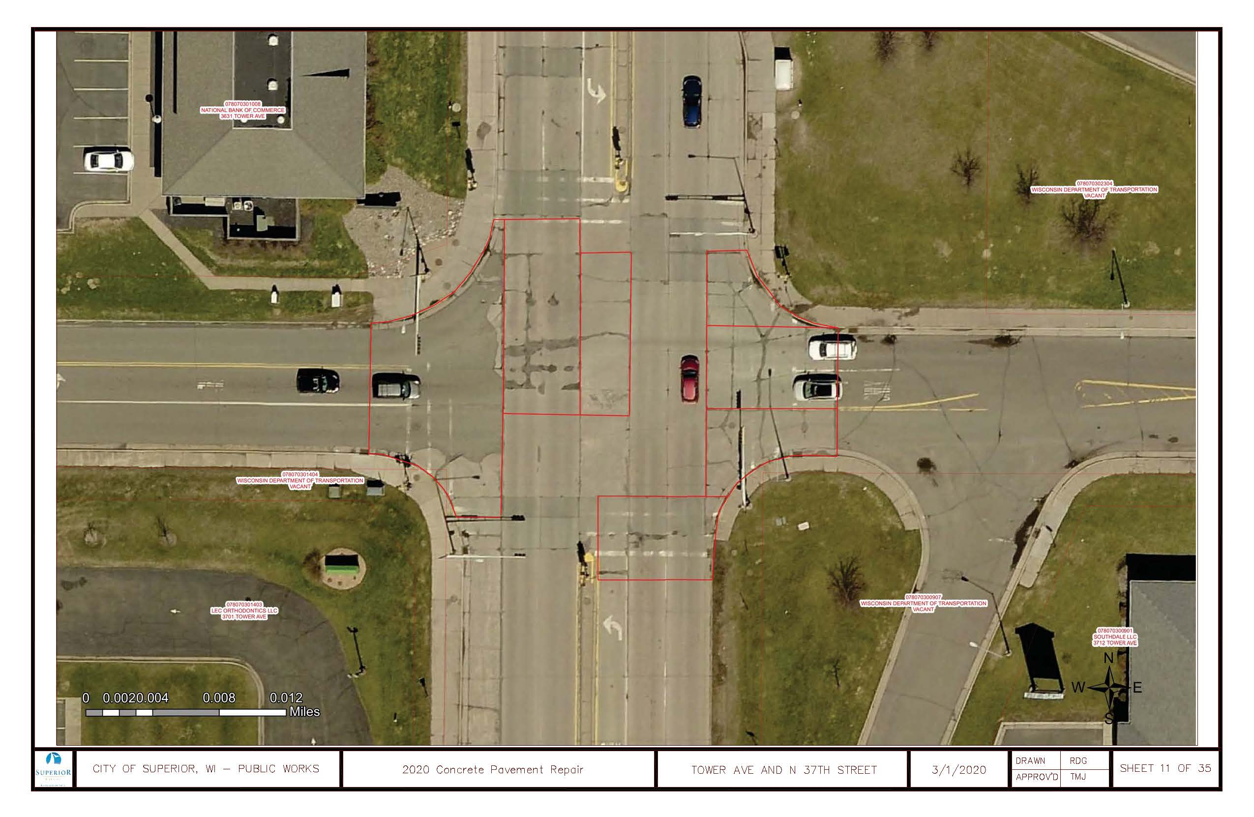2020 Concrete Pavement Repair Tower Ave and N 37th St.