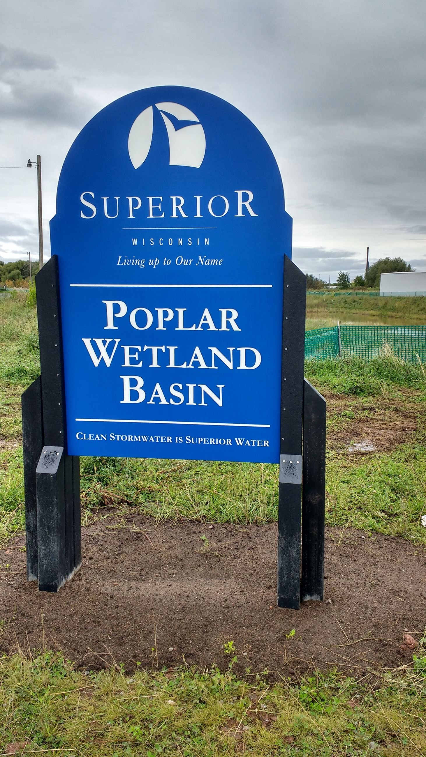 Poplar Wetland Basin Sign