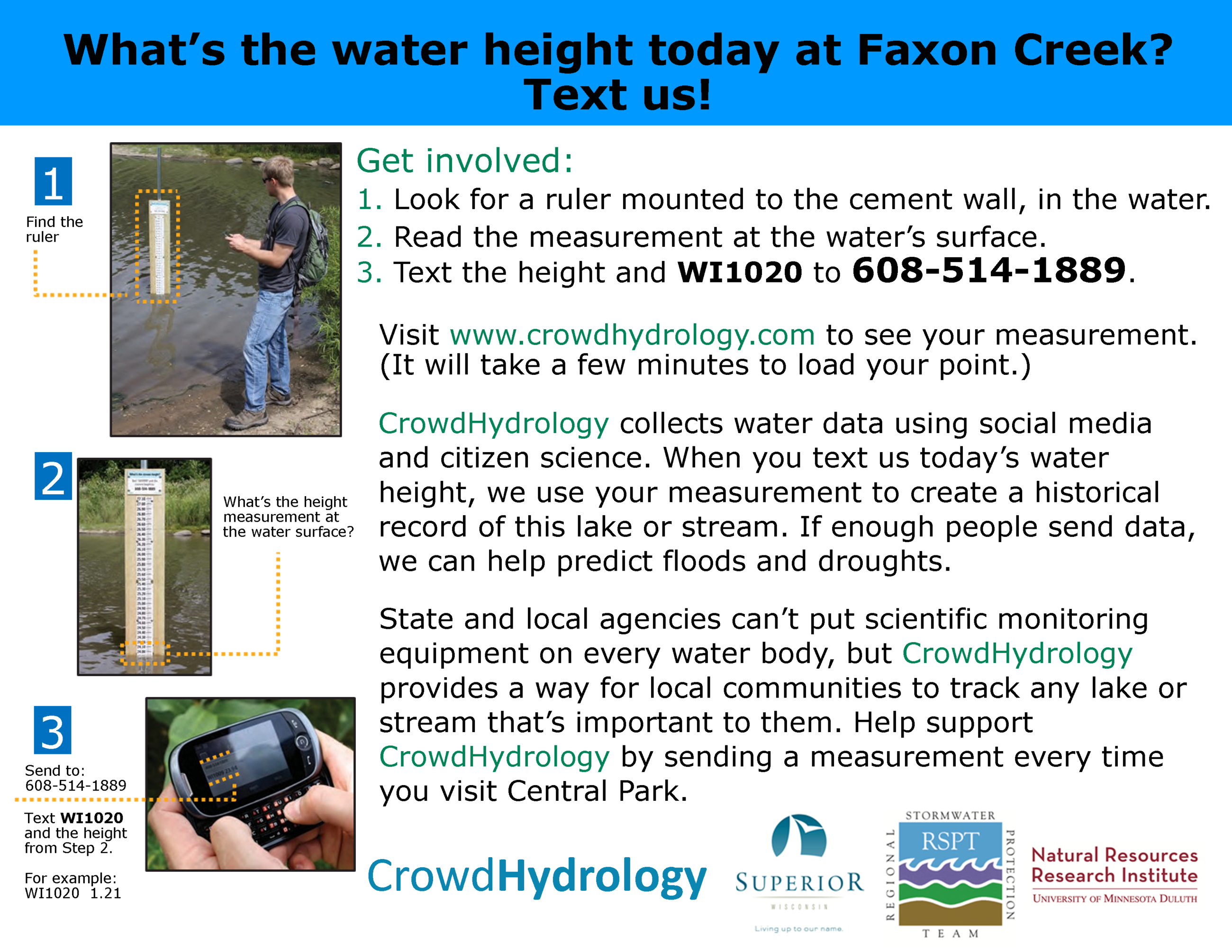 CrowdHydrology Info Sign