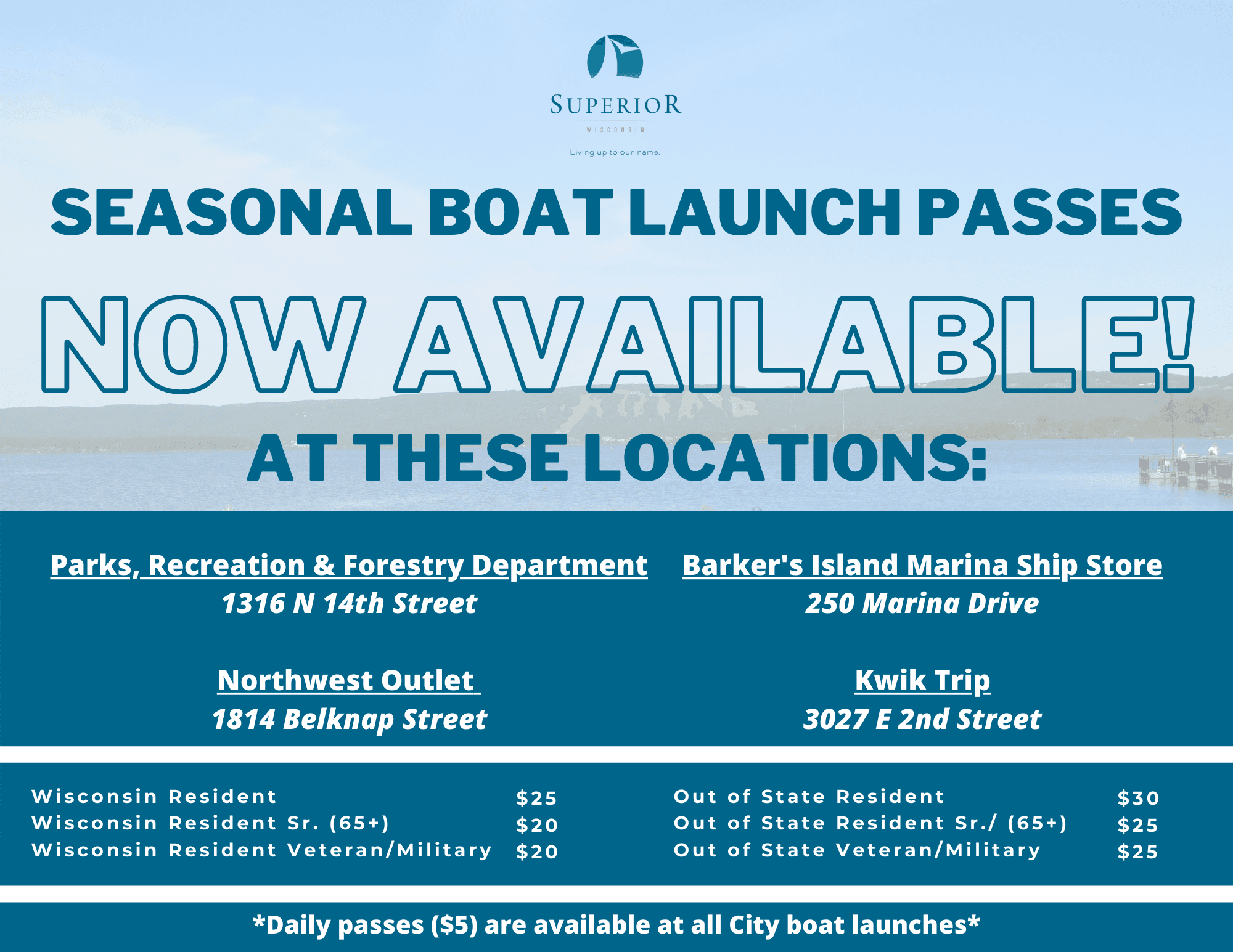 Seasonal Boat Launch Passes Now Available
