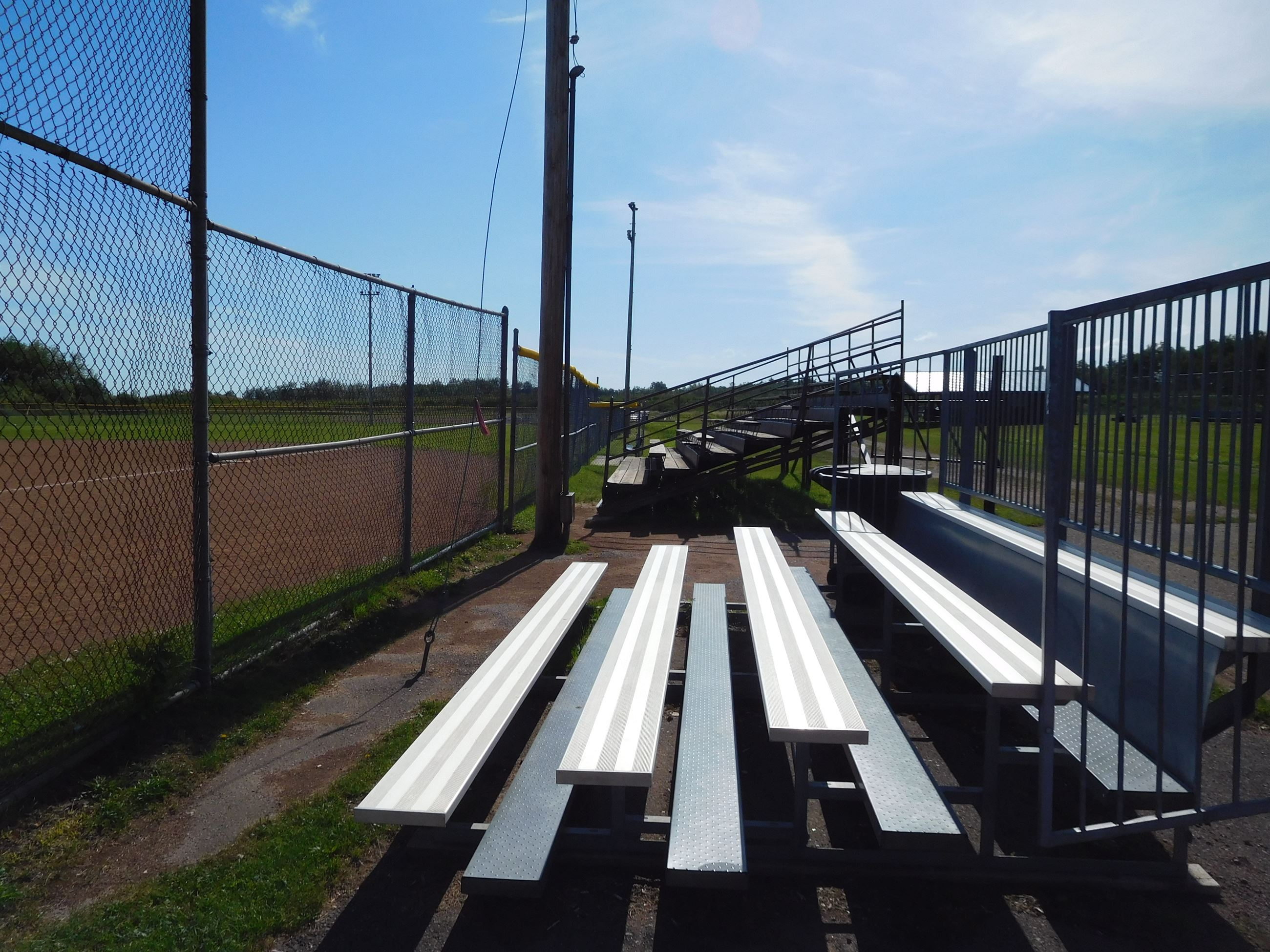 Tim Wicklund Memorial Field metal set of bleachers